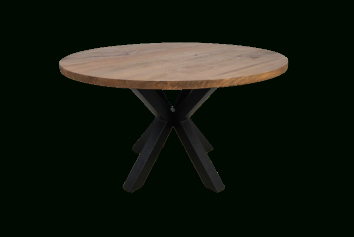 Round Dining Table Oakland – ⌀120 Cm – Solid Mango Wood Within Iron Dining Tables With Mango Wood (View 6 of 25)