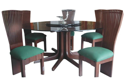 Round Dining Table Teak Wood Glass Top For Round Dining Tables With Glass Top (View 6 of 25)