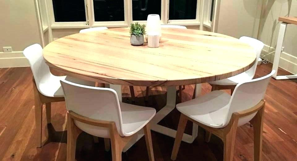 Round Dining Tables For 6 – Pluralia Intended For Round Dining Tables With Glass Top (View 25 of 25)
