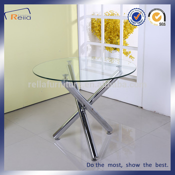 Round Glass Dining Table With 3 Metal Legs – Buy Round Glass Dining Table,dining Table With 3 Legs,dining Table With Metal Legs Product On Alibaba Pertaining To Glass Dining Tables With Metal Legs (View 16 of 25)