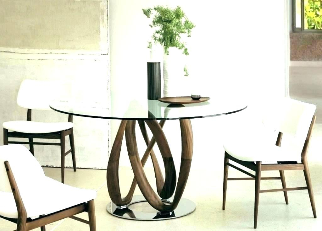Round Glass Top Dining Table And Chairs – Stichling With Regard To Round Dining Tables With Glass Top (View 11 of 25)
