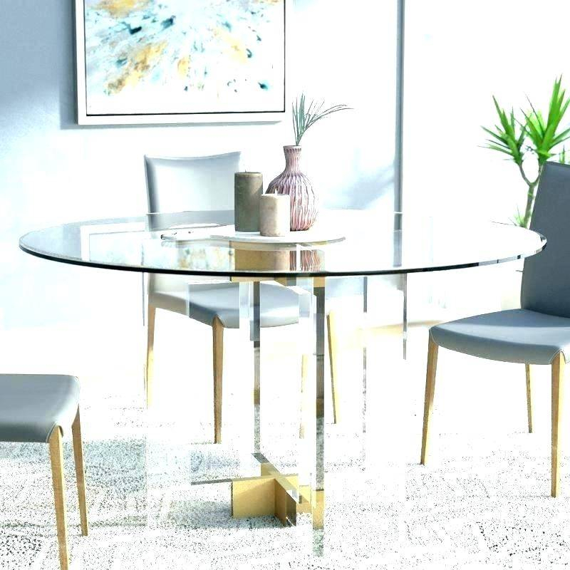 Round Glass Top Dining Table Set Chairs Circular Furniture For Modern Round Glass Top Dining Tables (Image 21 of 25)