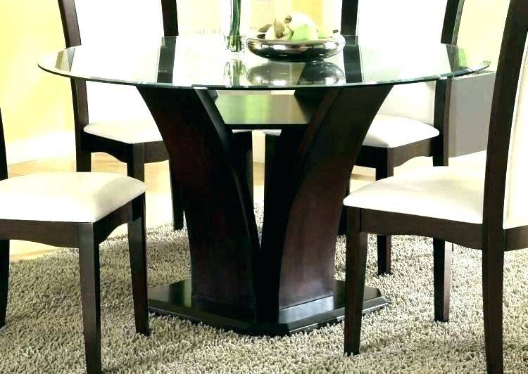 Round Glass Top Dining Table Set Chairs Room Furniture For Smoked Oval Glasstop Dining Tables (View 3 of 25)