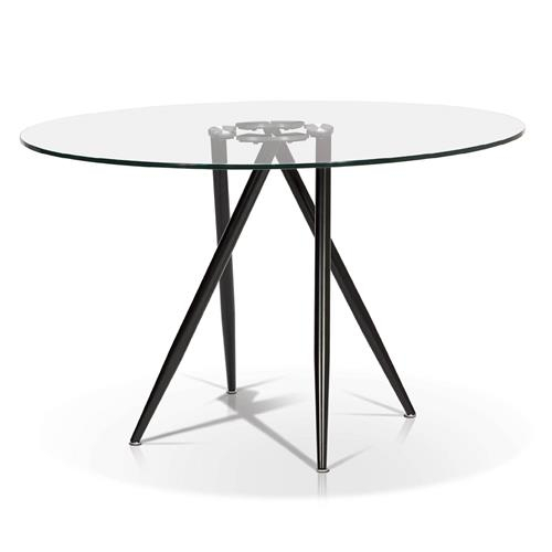 Round Glass Top Dining Table With Artefac Contemporary Casual Dining Tables (Image 22 of 25)