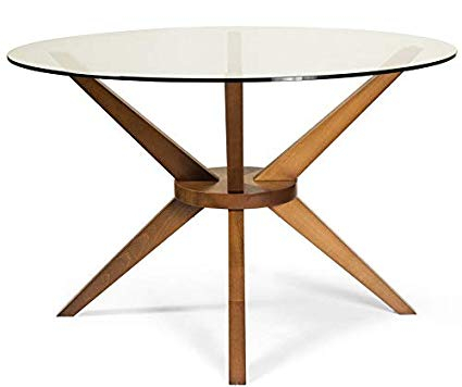 Round Glass Top Dining Table With Wooden Base Home Pertaining To Round Glass Top Dining Tables (View 16 of 26)
