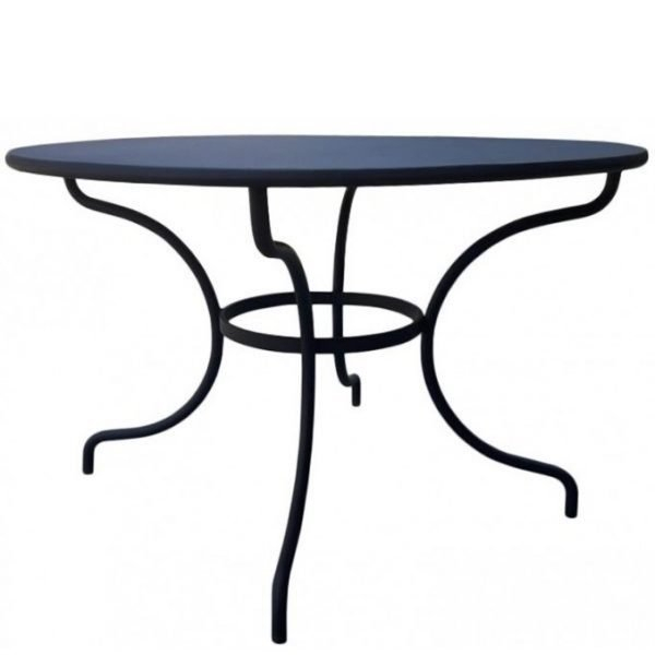 Round Metal Dining Table Neo 271 | Metal Chairs Metal Furniture Inside Neo Round Dining Tables (Image 21 of 25)
