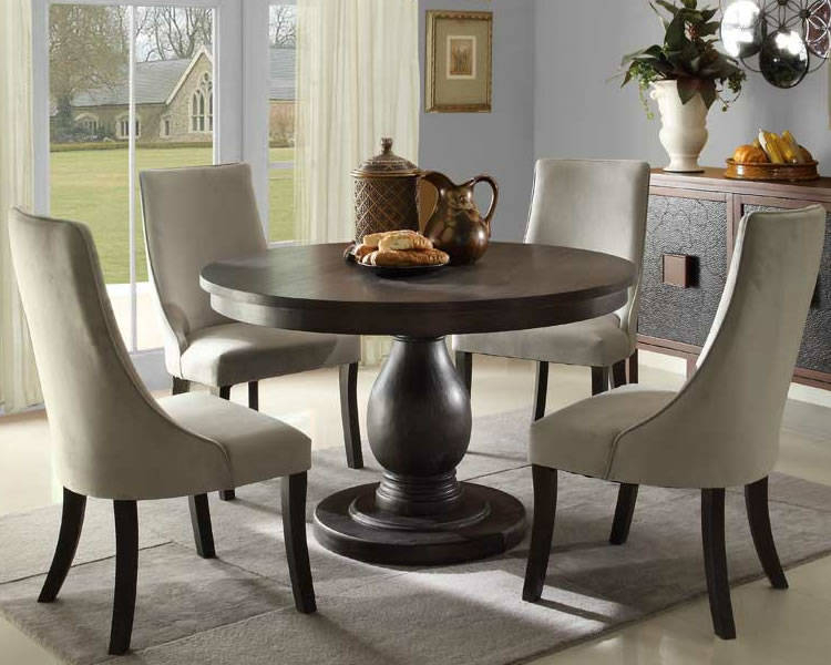 Round Pedestal Kitchen Table Sets Home Elegance Furniture Within Elegance Large Round Dining Tables (View 10 of 25)