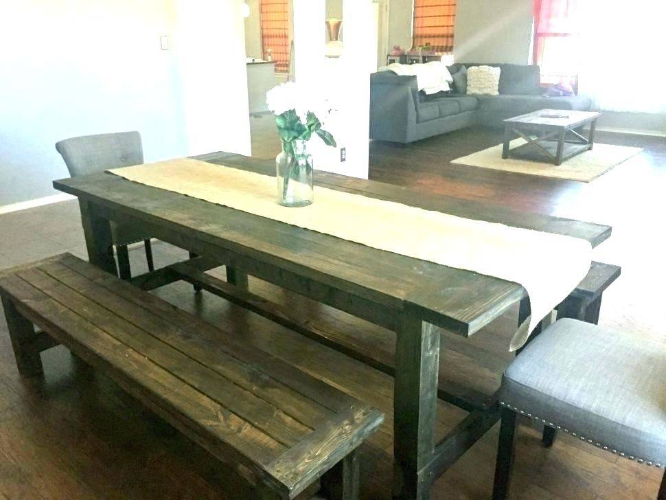 Rustic Bench Style Dining Table Room Furniture Small Set Inside Small Rustic Look Dining Tables (Image 16 of 25)