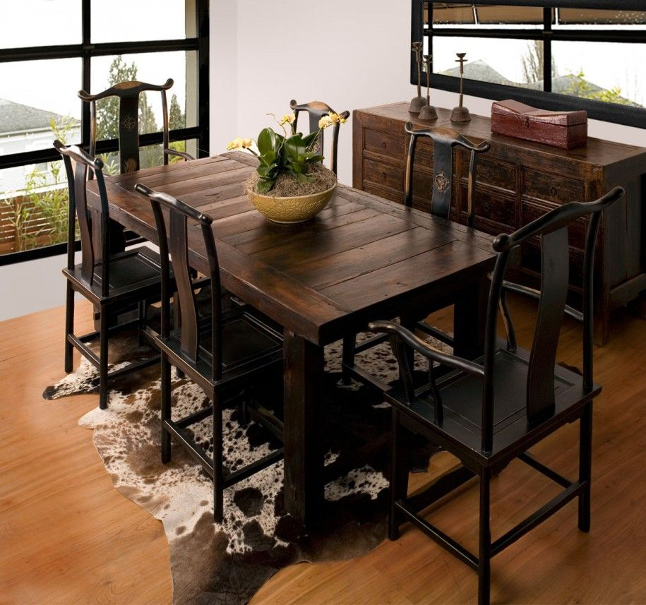 Rustic Dining Room Furniture Lends Your Space Aesthetic Inside Small Rustic Look Dining Tables (Image 17 of 25)