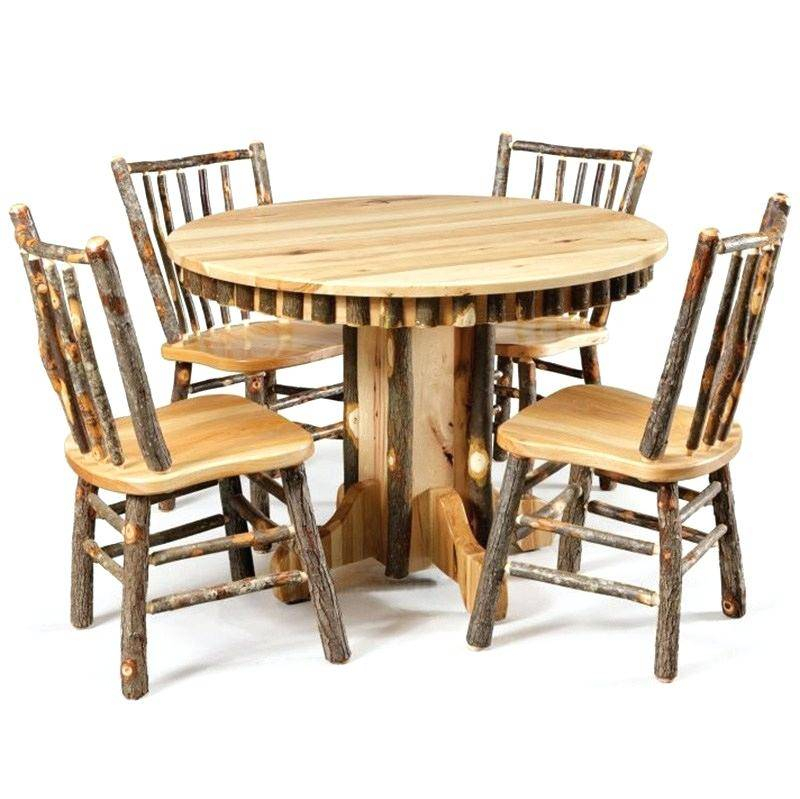 Rustic Dining Table Set Pine And Chairs Room Bench Scenic With Rustic Pine Small Dining Tables (View 14 of 25)