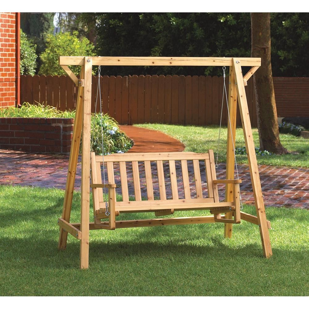 Rustic Garden Swing Is Perfect For Porch Or Patio; Comfy Inside Rosean Porch Swings (View 2 of 25)