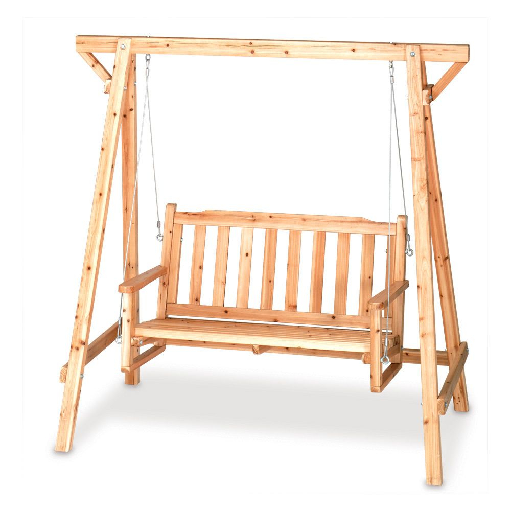 Rustic Garden Swing Is Perfect For Porch Or Patio; Comfy With Rosean Porch Swings (View 6 of 25)