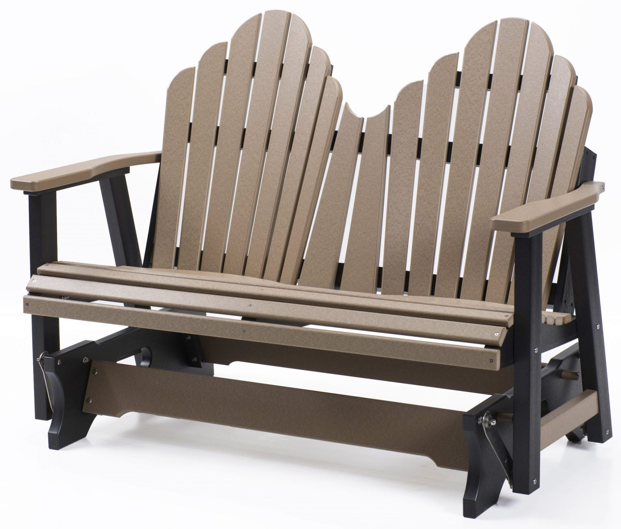 Rustic Hickory And Oak Double Glider Pertaining To Indoor/outdoor Double Glider Benches (View 22 of 25)