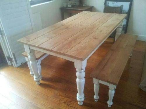Rustic Pine Dining Table Bench Pine Dining Table Dining Within Rustic Pine Small Dining Tables (View 6 of 25)