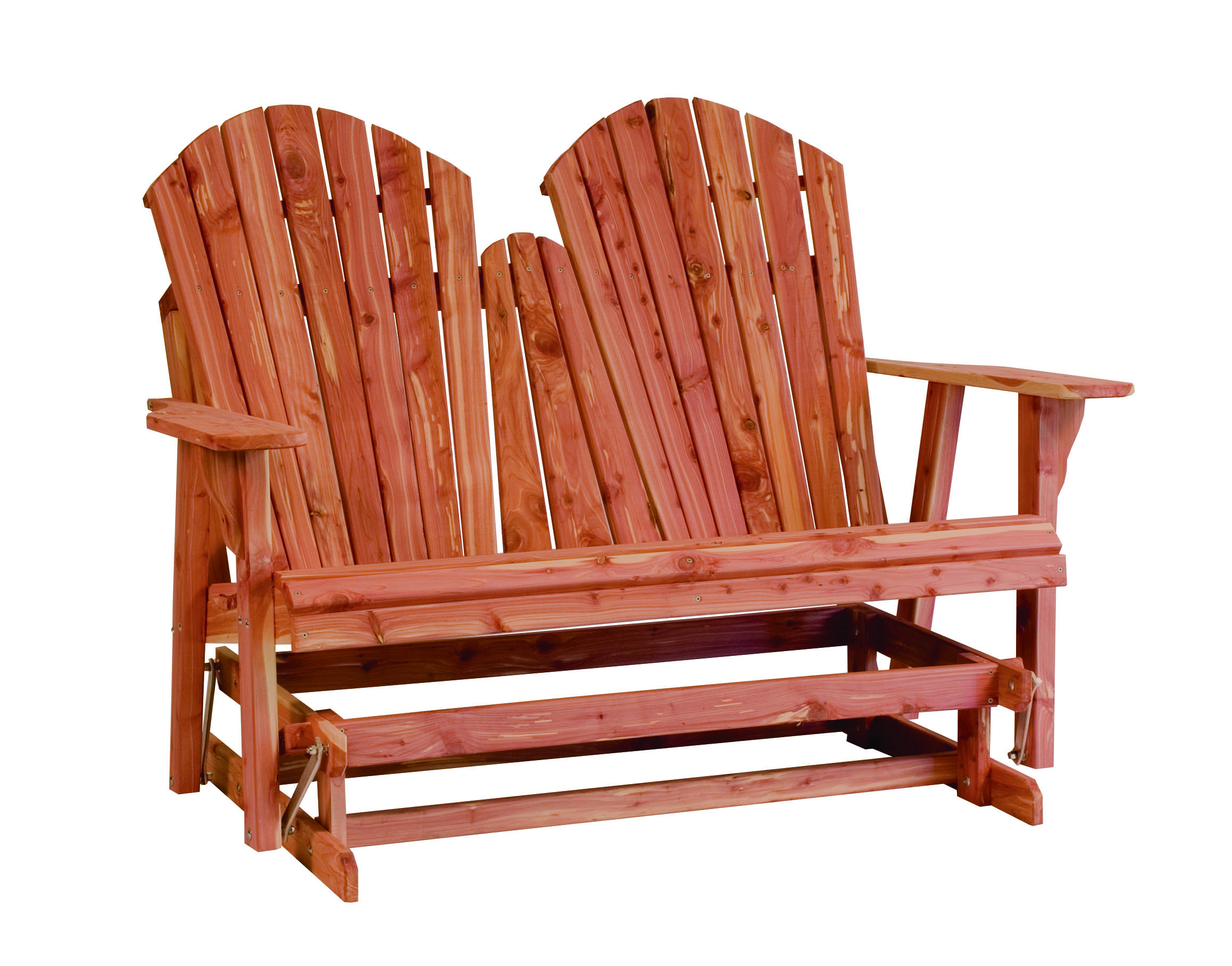 Rustic Red Cedar Gliders – Sturgeon River Pottery – Petoskey Throughout Loveseat Glider Benches (View 15 of 25)