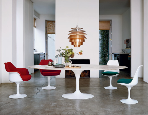 Saarinen Dining Table – Oval | Knoll Inside Espresso Finish Wood Classic Design Dining Tables (Image 19 of 25)