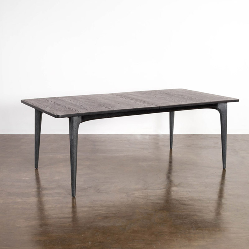 "Salk 78"" Extension Dining Table W/ Seared Oak Top On For Dining Tables In Seared Oak (Image 16 of 25)"