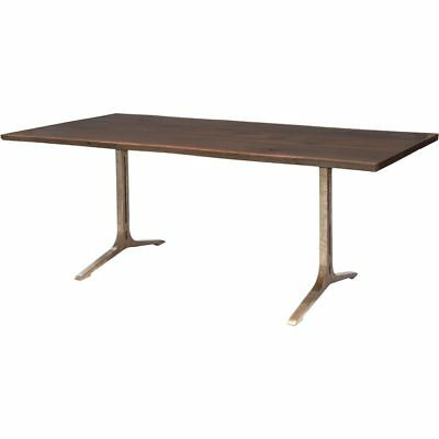 Samara 78 Inch Dining Table In Seared Oak And Bronze Cast Throughout Dining Tables In Seared Oak (Image 19 of 25)