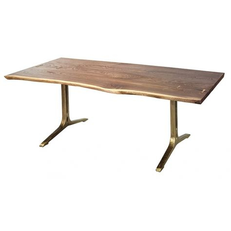 "Samara Dining Table In Seared Oak|Bronze 78""long 