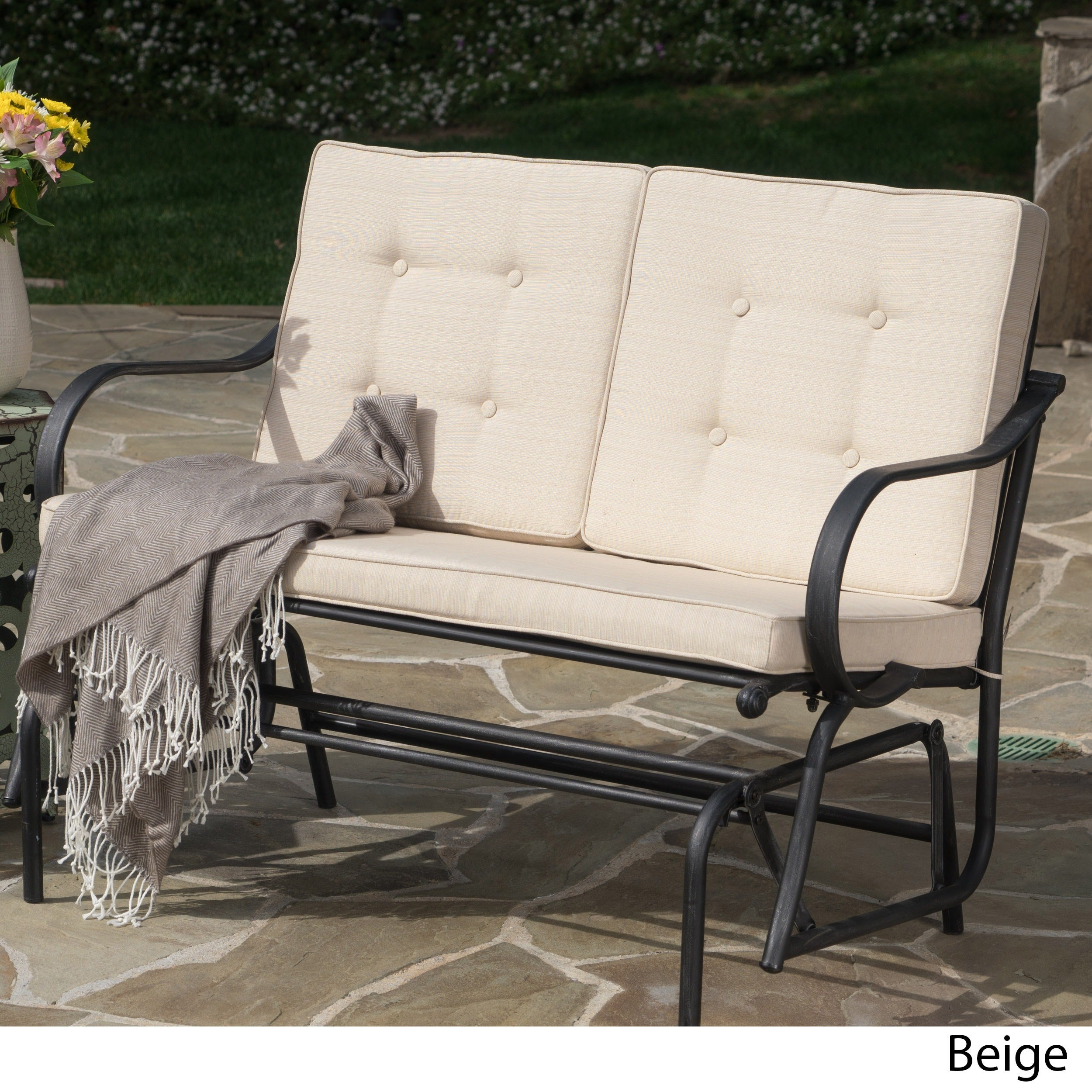 San Jose Outdoor Rocking Bench With Cushionschristopher Knight Home With Rocking Benches With Cushions (View 14 of 25)