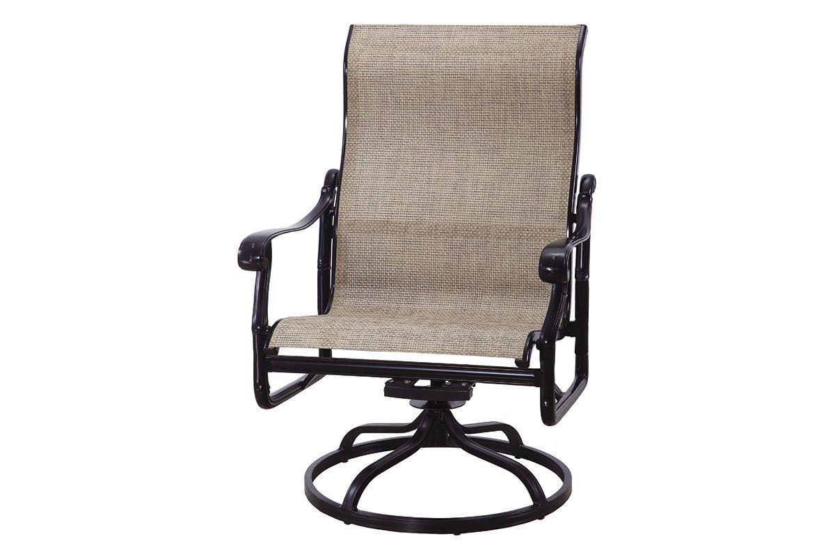 San Marino Sling High Back Swivel Rocking Lounge Chair 50240024 Inside Sling High Back Swivel Chairs (View 23 of 25)