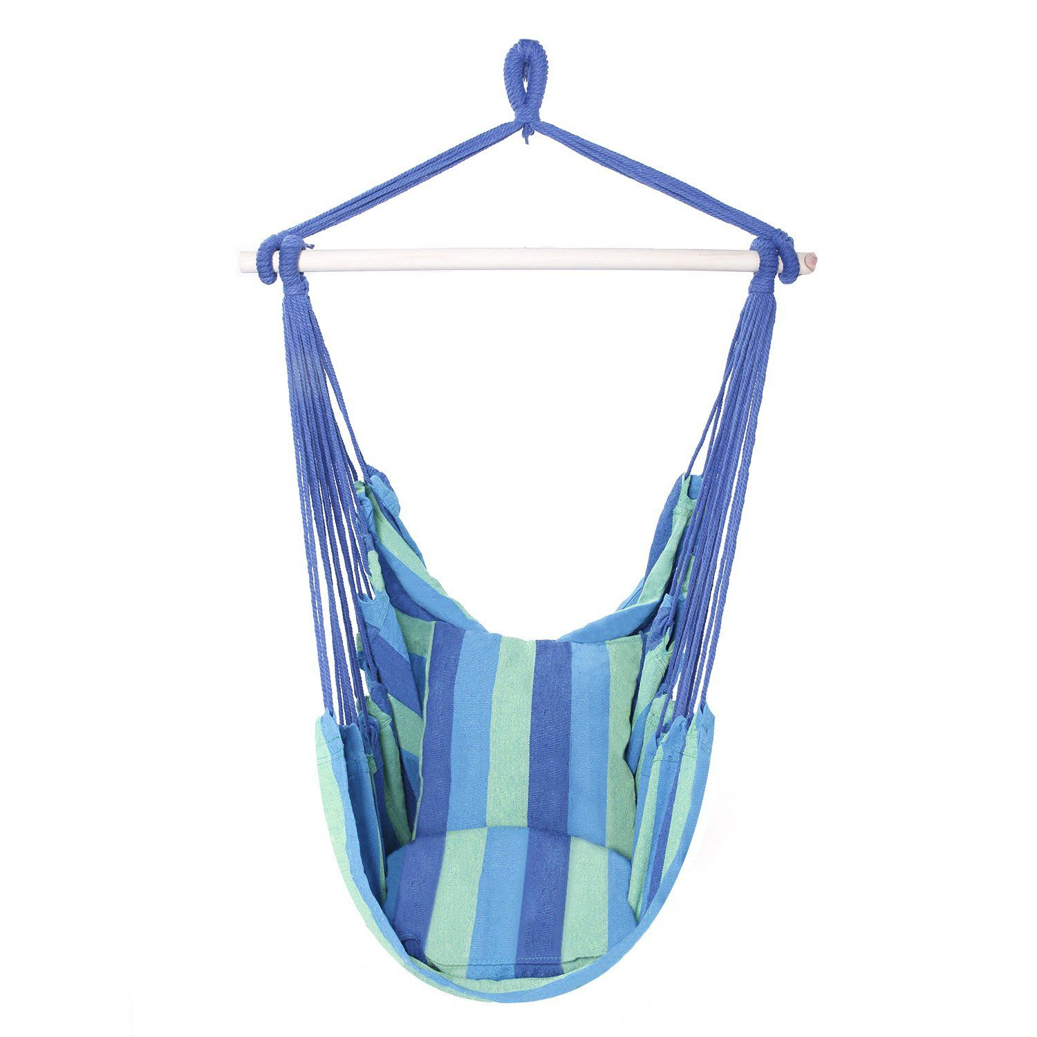 Save 80% On Lovinland Cotton Hammock Hanging Rope Chair With Cotton Porch Swings (View 5 of 25)