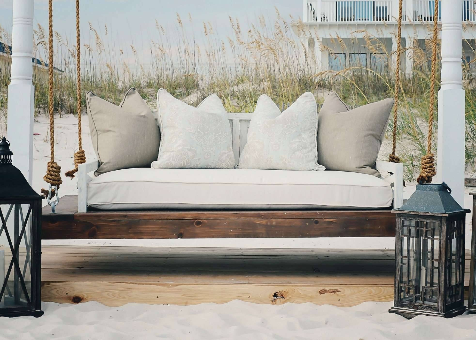 Scenic Swinging Porch Bed Swing Plans Living Room Hanging Throughout Day Bed Porch Swings (Image 21 of 25)