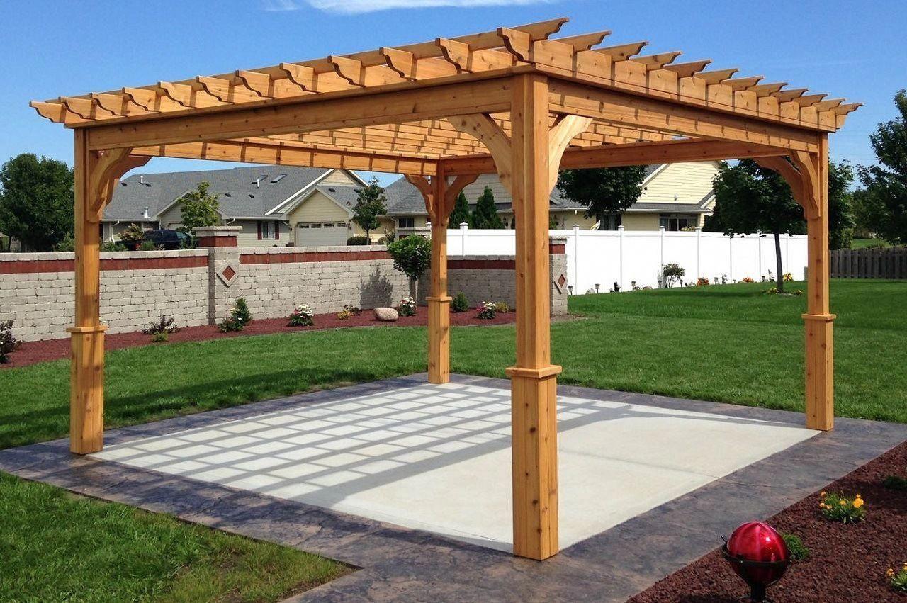Serenity Cedar Pergola Kit – Pergolakitsusa #patio Pertaining To A4 Ft Cedar Pergola Swings (Image 24 of 25)