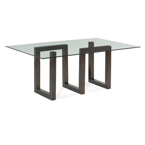 Serpent – Rectangular Glass Top Dining Table For Rectangular Glass Top Dining Tables (View 25 of 25)