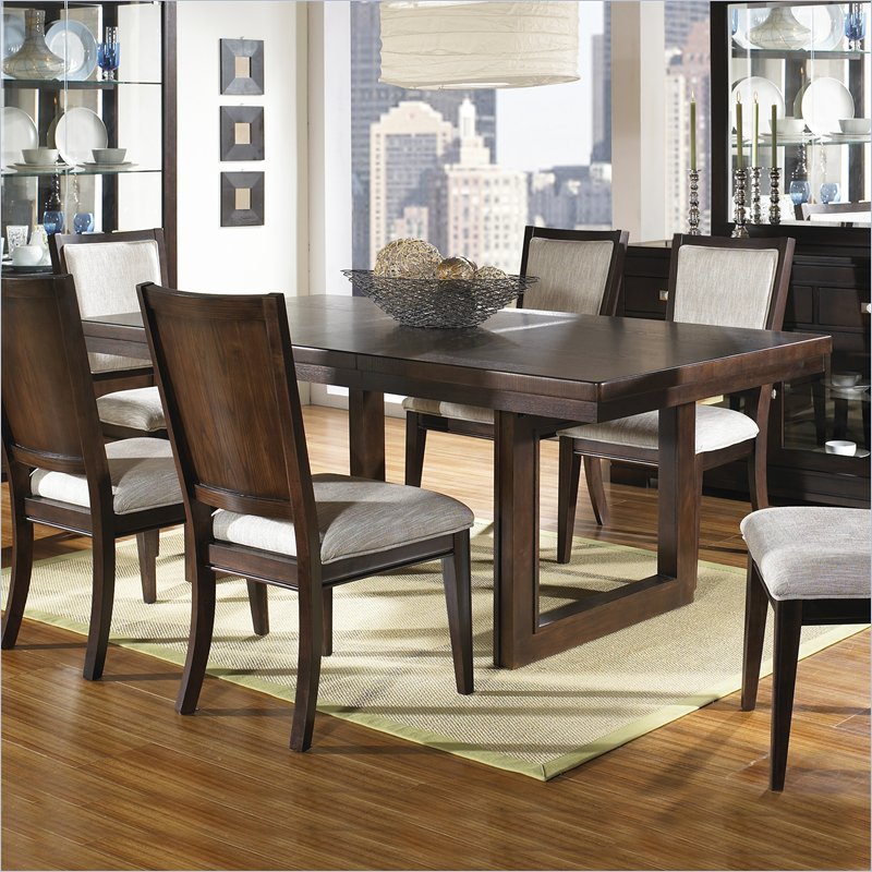 Shadow Ridge Modern Rectangular Casual Dining Table In With Regard To Coaster Contemporary 6 Seating Rectangular Casual Dining Tables (View 5 of 25)