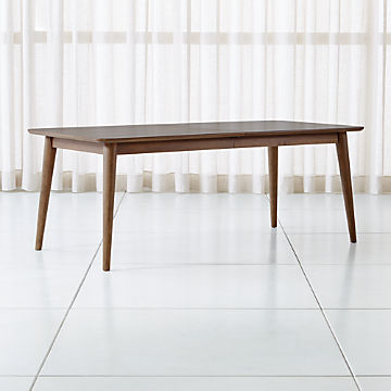 Shop Dining Room & Kitchen Tables Online | Crate And Barrel In Rustic Mid Century Modern 6 Seating Dining Tables In White And Natural Wood (View 18 of 25)
