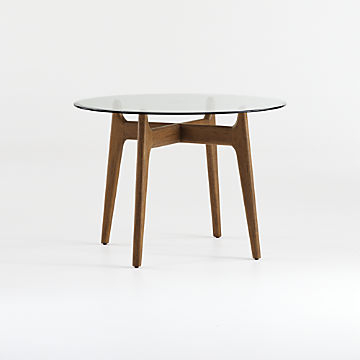 Shop Dining Room & Kitchen Tables Online | Crate And Barrel With Bistro Transitional 4 Seating Square Dining Tables (View 20 of 25)