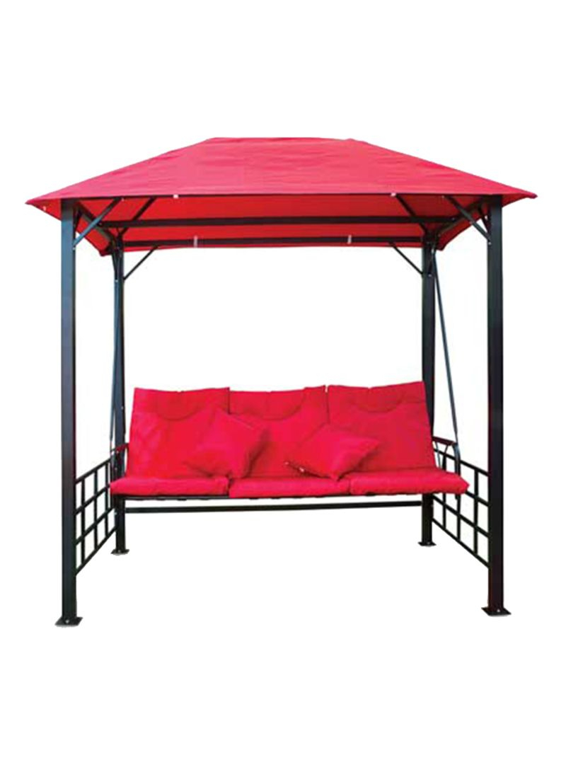 Shop Generic 3 Seater Swing Patio With Cushion And Pillow With Regard To 3 Seater Swings With Frame And Canopy (Image 24 of 25)