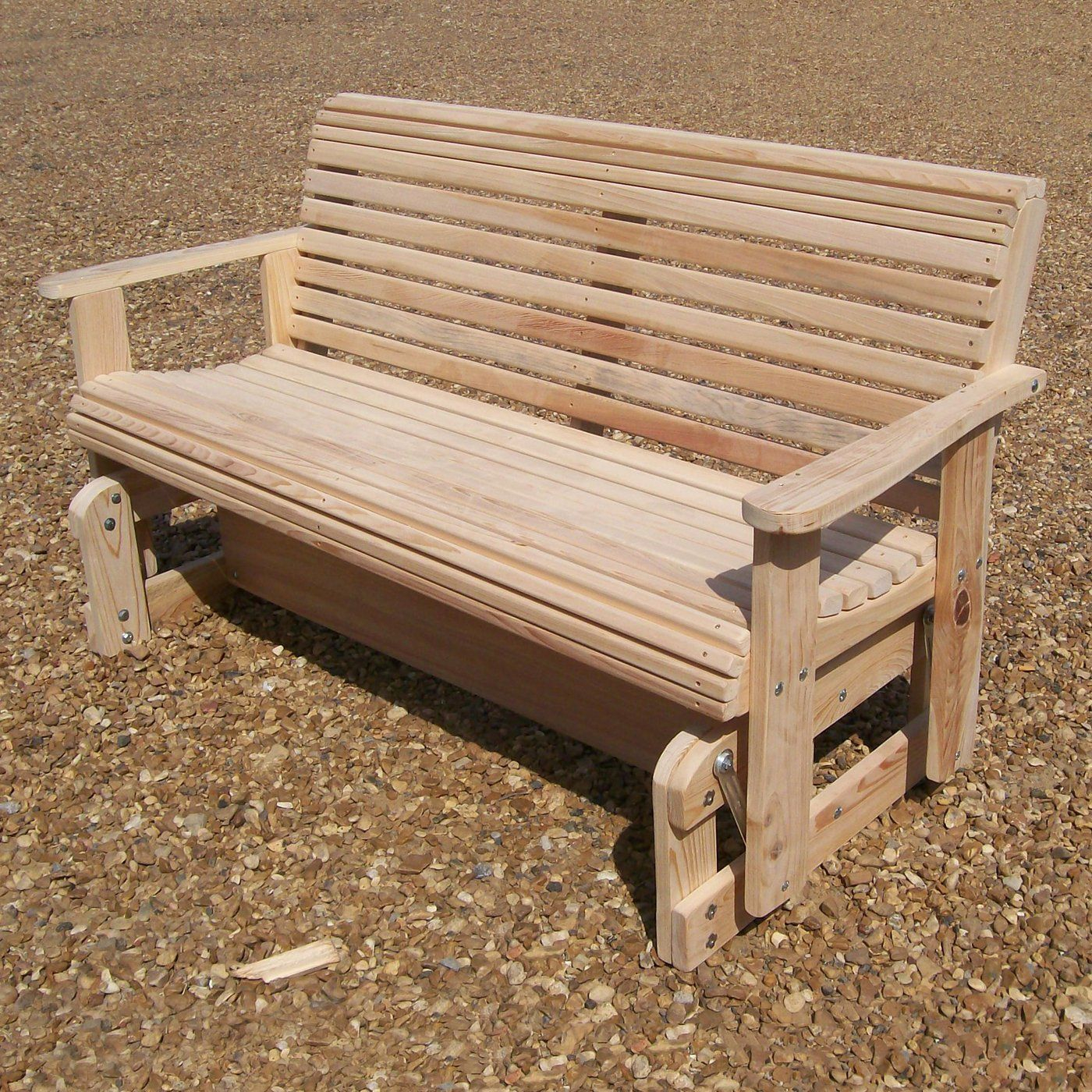 Shop La Cypress Swings Cg Outdoor Rollback Glider At Atg Inside Cedar Colonial Style Glider Benches (View 10 of 25)