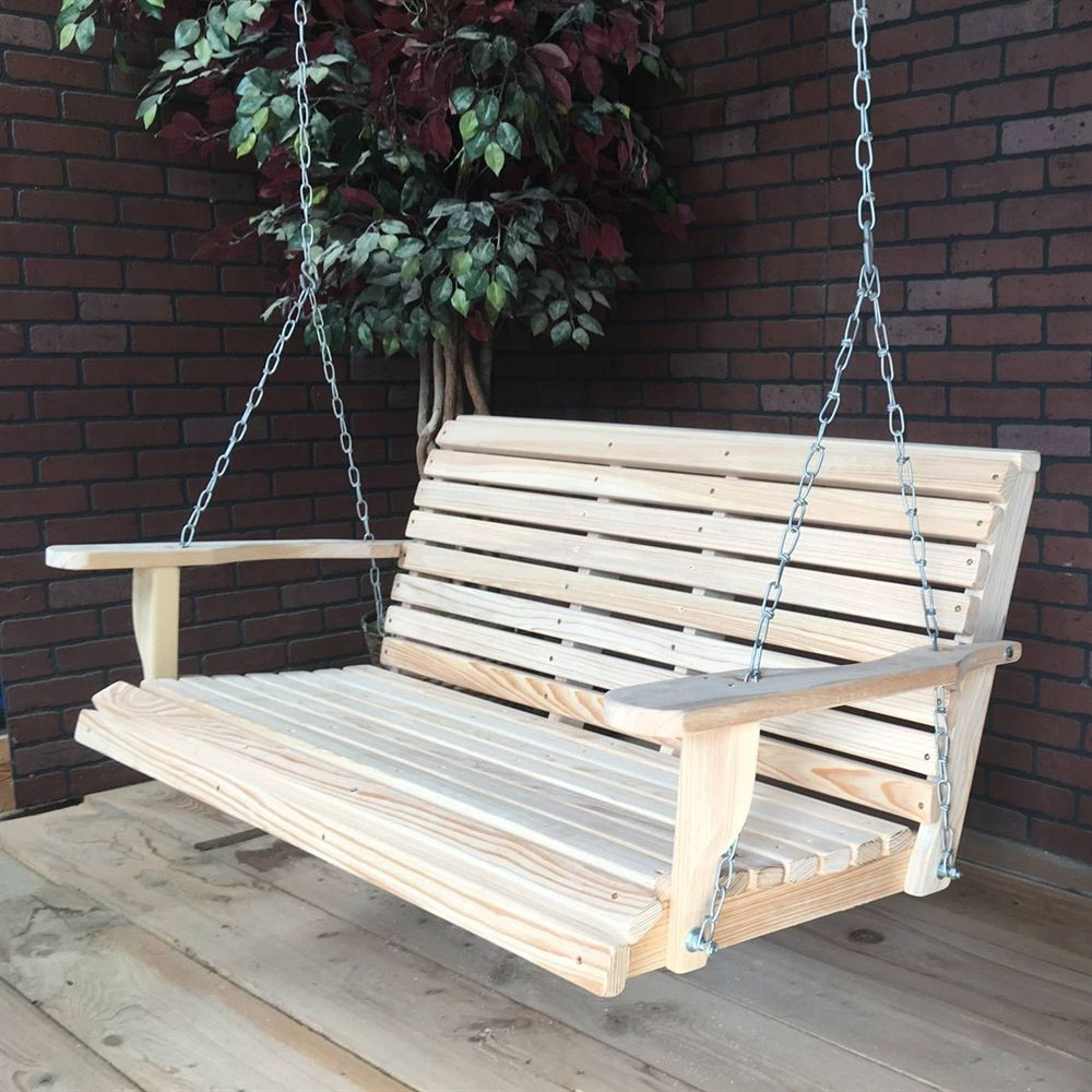 Shop La Cypress Swings Crs Regular Porch Swing At The Mine Regarding Contoured Classic Porch Swings (View 19 of 25)