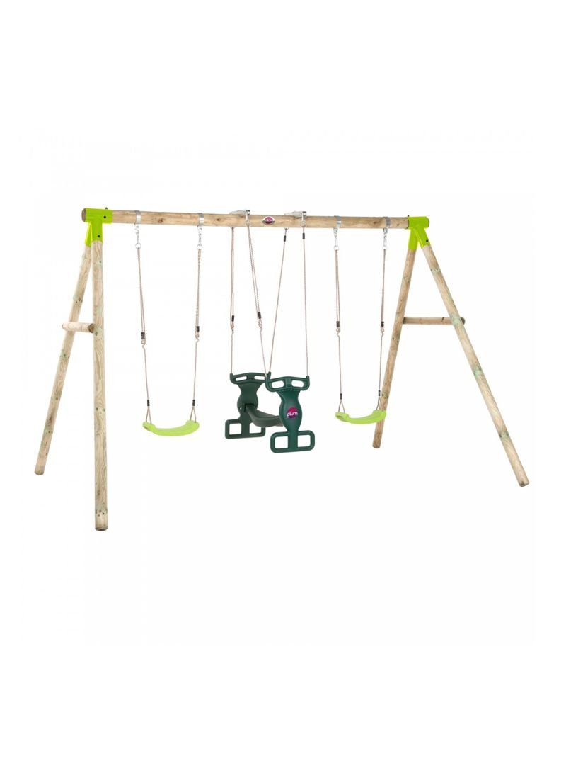 Shop Plum Vervet Wooden Swing Set Online In Dubai, Abu Dhabi Within Dual Rider Glider Swings With Soft Touch Rope (View 2 of 25)