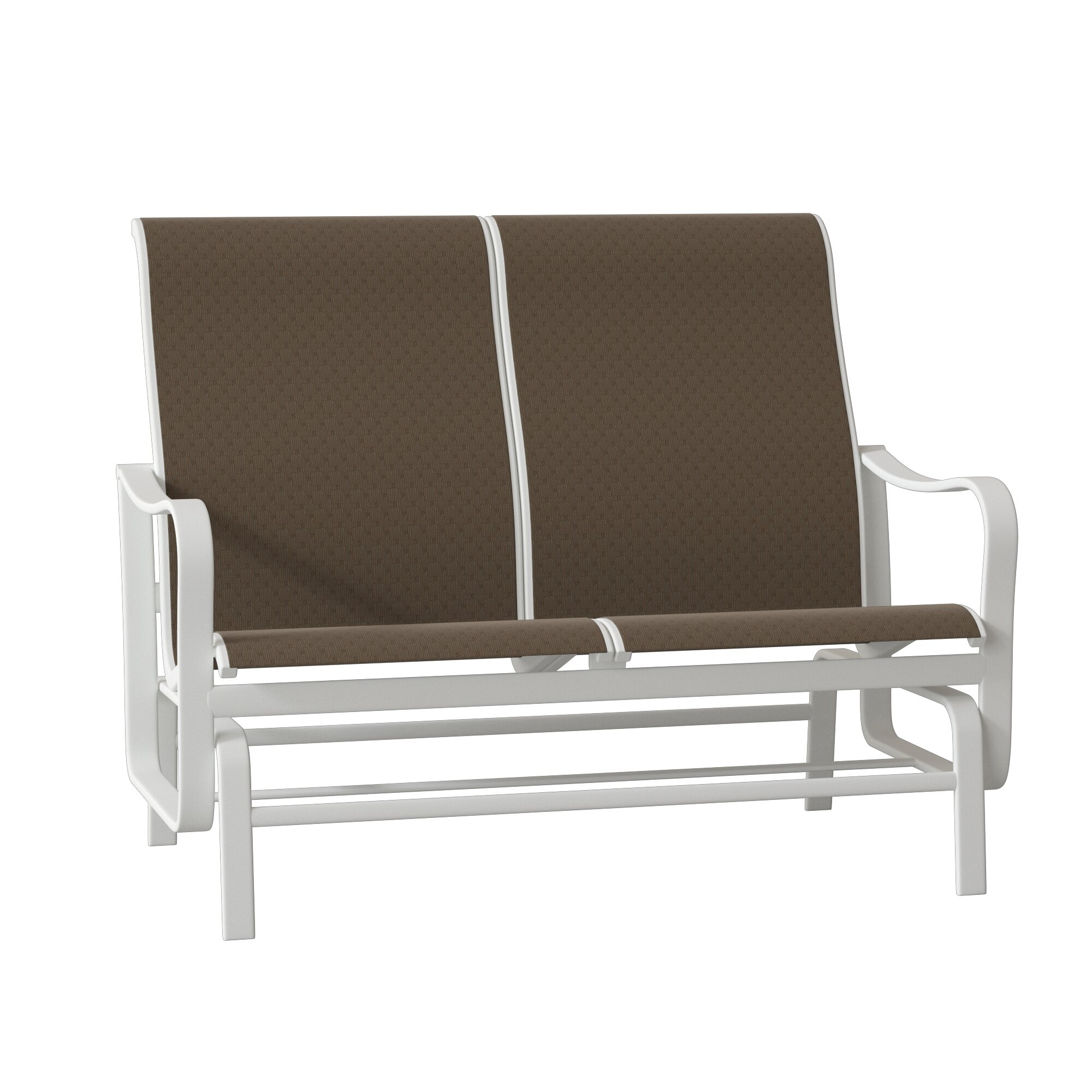 Shoreline Sling Double Glider Bench In Sling Double Glider Benches (View 8 of 25)