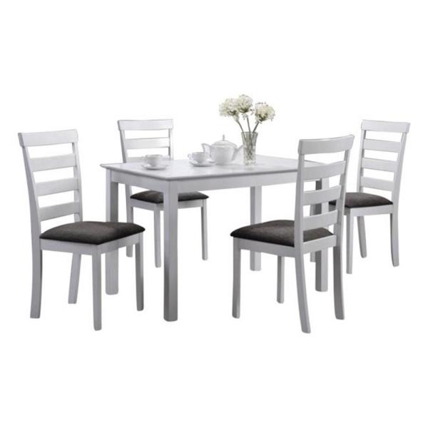 Sicotas 3 Piece Round Dining Table Set Table + 2 Black Pertaining To 3 Pieces Dining Tables And Chair Set (View 24 of 25)