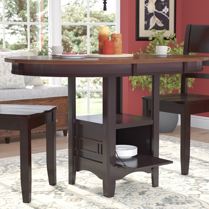 Sinkler Counter Height Drop Leaf Dining Table Within Transitional 4 Seating Drop Leaf Casual Dining Tables (Image 20 of 25)