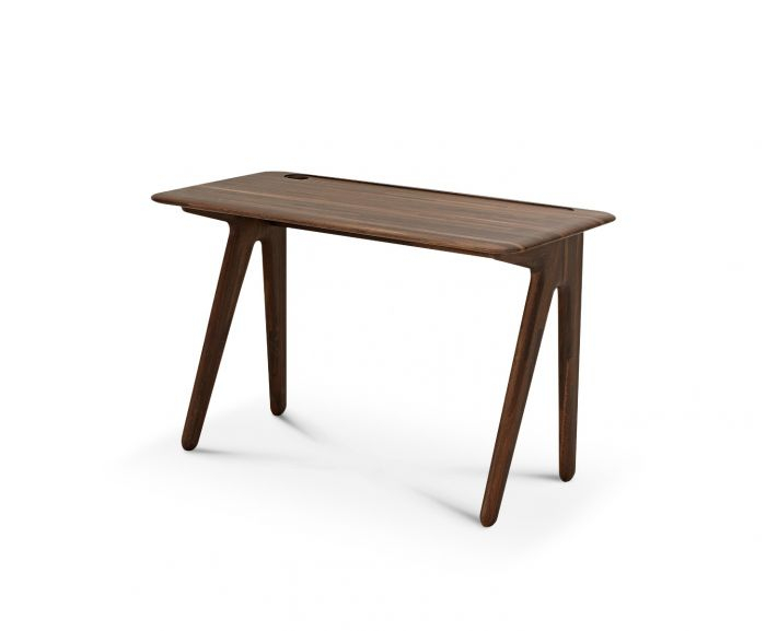 Slab Individual Desk Small Fumed Oak Pertaining To Fumed Oak Dining Tables (View 21 of 25)