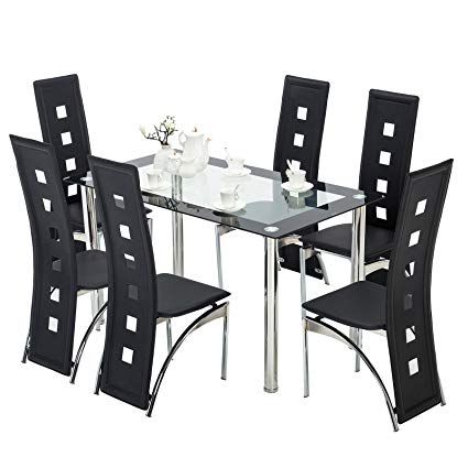 Small Dining Room Table And Chair Sets Brilliant Amazon Intended For Coaster Contemporary 6 Seating Rectangular Casual Dining Tables (View 9 of 25)