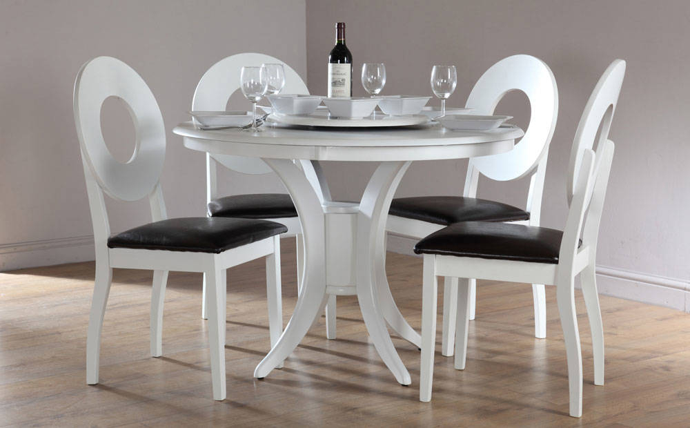 Small White Dinette Sets Innovative Modern Round Dining With Elegance Small Round Dining Tables (View 3 of 25)