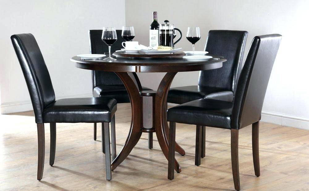Small Wood Dining Set Engaging Round Table Dark Kitchen Pertaining To Elegance Small Round Dining Tables (View 10 of 25)