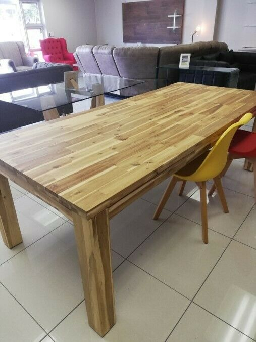 Solid Acacia Wood Dining Table. Modern, Trendy Dining Table With An Organic Feel (View 16 of 25)
