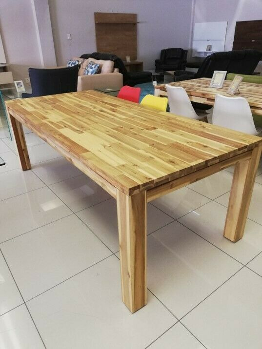 Solid Acacia Wood Dining Table. Modern, Trendy Dining Table With An Organic Feel (View 13 of 25)