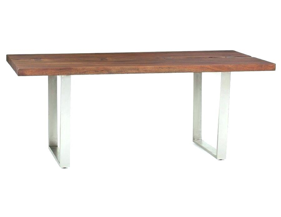 Solid Acacia Wood Dining Table Solid Acacia Wood Dining Within Acacia Wood Top Dining Tables With Iron Legs On Raw Metal (Image 24 of 25)