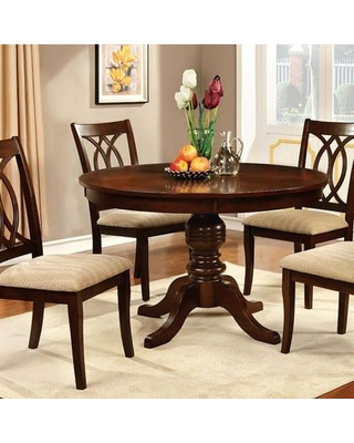 Solid Cherry Round Dining Table Household Furniture Of Intended For Rustic Mid Century Modern 6 Seating Dining Tables In White And Natural Wood (View 16 of 25)