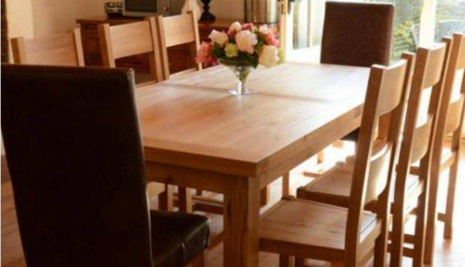 Solid Oak Round Dining Table Chairs Room And Wood Extending With Regard To Solid Wood Circular Dining Tables White (Image 17 of 25)