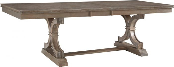 Solid Parawood Wood Sonoma Extension Dining Table In Taupe Gray Finish For Extension Dining Tables (View 25 of 25)