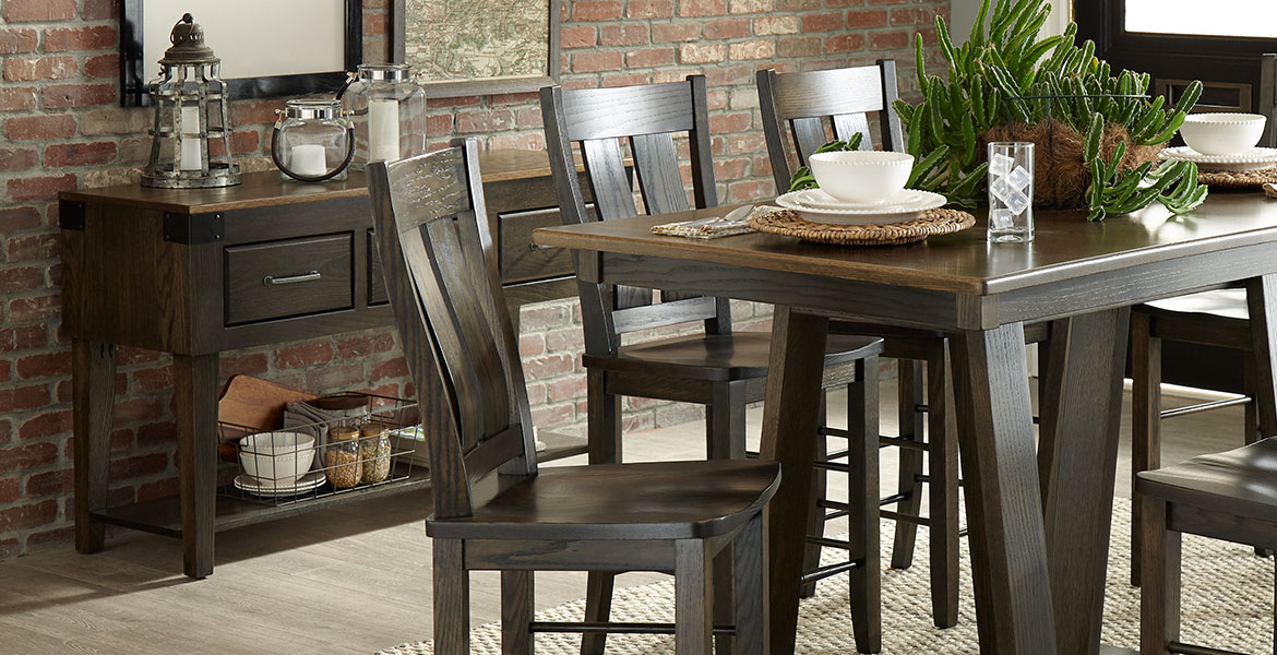 Solid Wood Dining Room Furniture – Paletteswinesburg Intended For Distressed Grey Finish Wood Classic Design Dining Tables (Image 21 of 25)